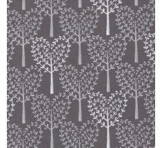 Michael Miller - Friendly Forest Heart Trees - Grey
