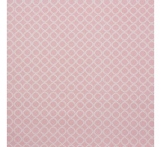 Mink and Pink Collection - Millegrain Circles -  Pink LAST METRE