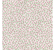Teeny Tiny Floral Poly Cotton - Pink on Cream