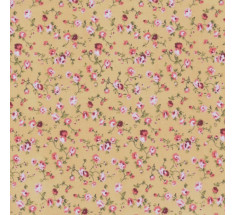 Molly Floral Poly Cotton - Beige / Pink