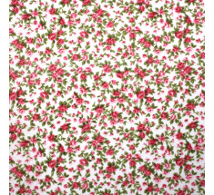 Itsy Bitsy Tiny Floral Poly Cotton - White - metre