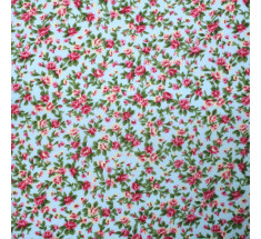 Itsy Bitsy Tiny Floral Poly Cotton - Blue - metre