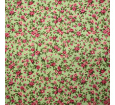 Itsy Bitsy Tiny Floral Poly Cotton - Green - metre