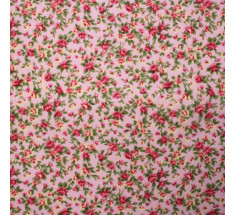 Itsy Bitsy Tiny Floral Poly Cotton - Pink - metre