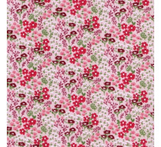 Floral Meadow Poly Cotton - Pink/Pink