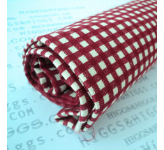 Linen Look Cotton - 4mm Gingham - Red
