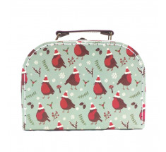 Storage Suitcase - Sass & Belle - Christmas Robin - Small