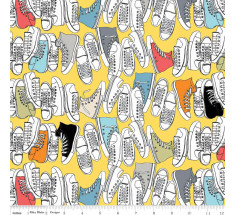 Geekly Sneakers by Riley Blake - Yellow