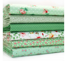FQ Bundle - Spring Green Small Floral x 6