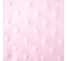 Dimple Fleece - Star - Pink - Oeko-tex