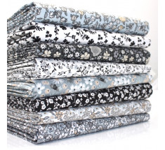 FQ Bundle - Sweetheart Florals - Black Grey x 8