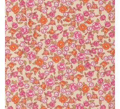 Sweetheart Tiny Floral - Meadow Sweet - Rose & Orange