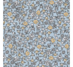 Sweetheart Tiny Floral - Meadow Sweet - Grey & Beige