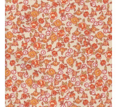 Sweetheart Tiny Floral - Meadow Sweet - Pumpkin
