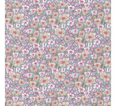 Sweetheart Tiny Floral - Sorrel - Pale Blue