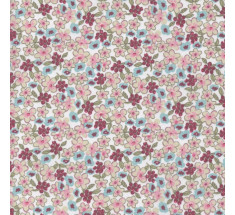 Sweetheart Tiny Floral - Lilas -  Buff Blue & Ruby