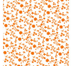 Sweetheart Tiny Floral - Silhouette - Orange