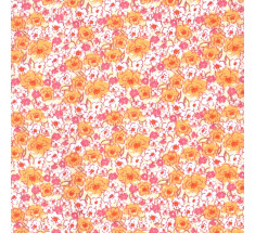 Sweetheart Tiny Floral - Sorrel - Orange