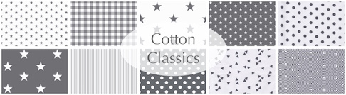 cotton classics grey stars dots etc